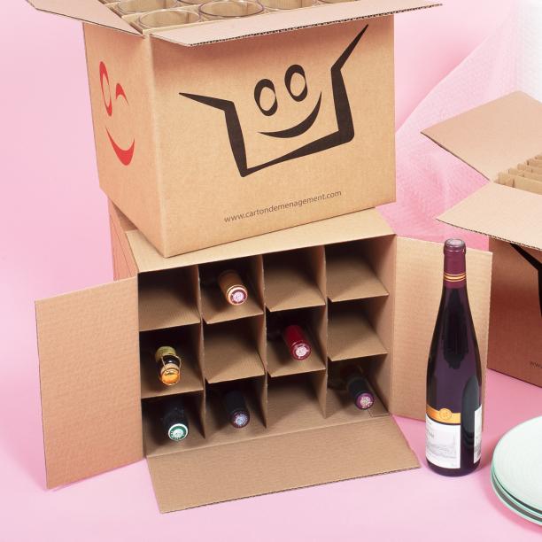 Cartons pour bouteilles - CartonDemenagement.com