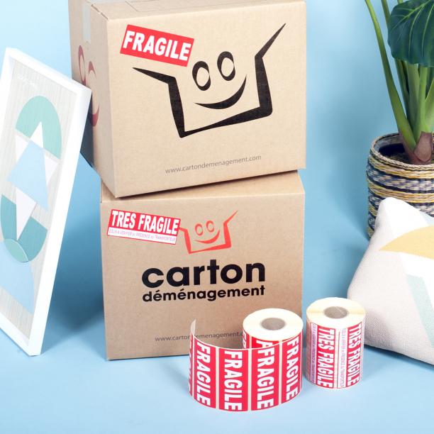 Etiquettes FRAGILE - CartonDemenagement.com
