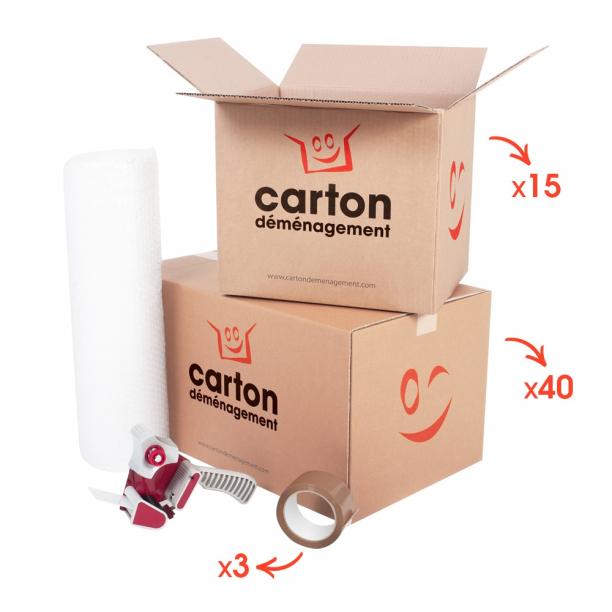 Kit de déménagement pour T3 - T4 - CartonDemenagement.com