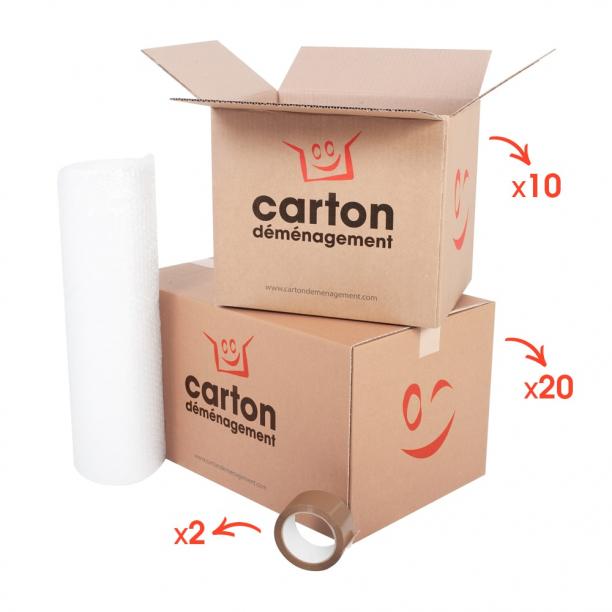Kit de déménagement pour T1 - T2 - CartonDemenagement.com
