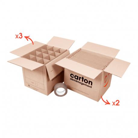 Kit vaisselle - CartonDemenagement.com