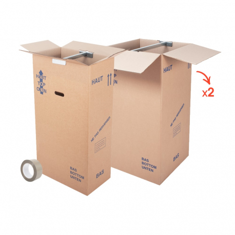 Kits cartons penderie - CartonDemenagement.com