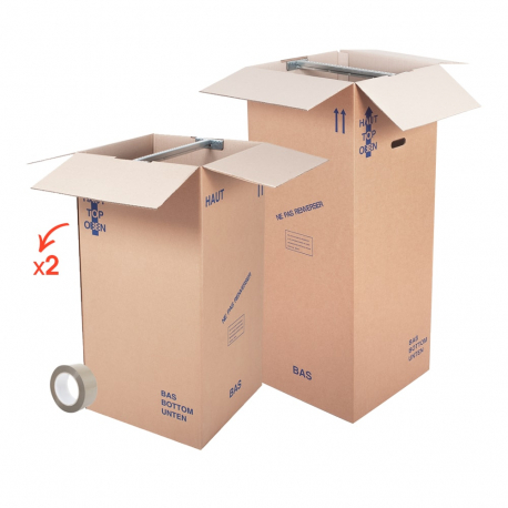 Kit cartons penderie - CartonDemenagement.com