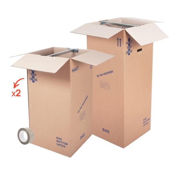 Kit cartons penderie - CartonDemenagement.com